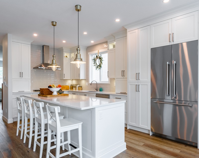 Merit Kitchens Design Langley ML Custom White Kitchen Cabinets