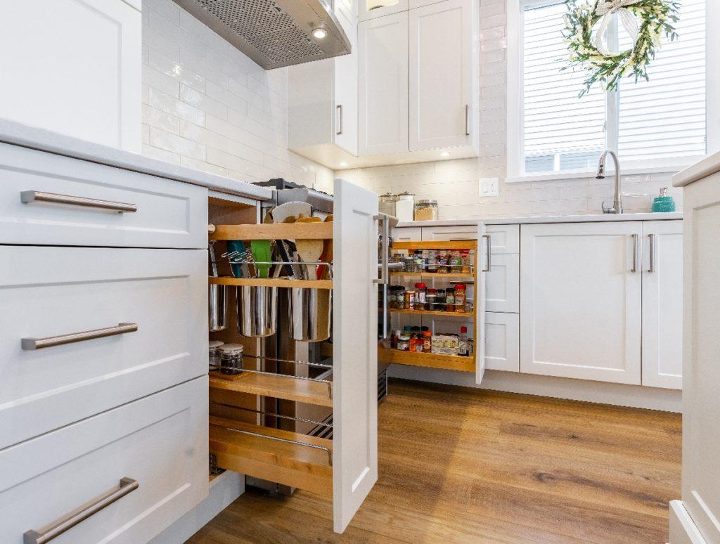Merit Kitchens Design Langley ML Custom White Kitchen Cabinets